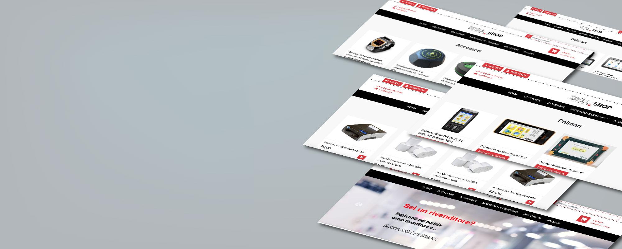 Nuovo ecommerce di Krell Informatica - fornitura elettronica, materiali conumabili, sistemi chiamata cameriere